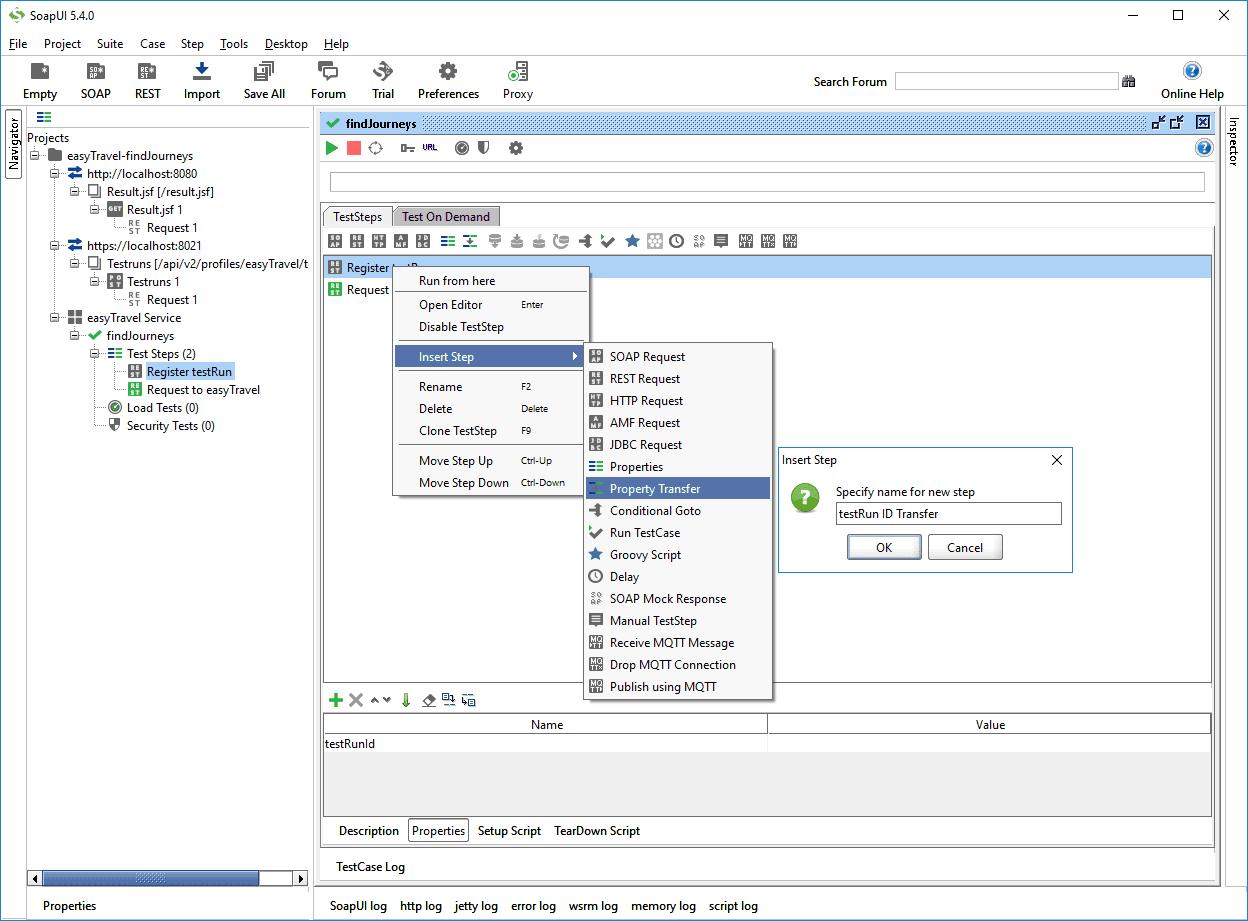 Integrate web api performance monitoring in soapui appmon set the name as testrun id transfer baditri Images