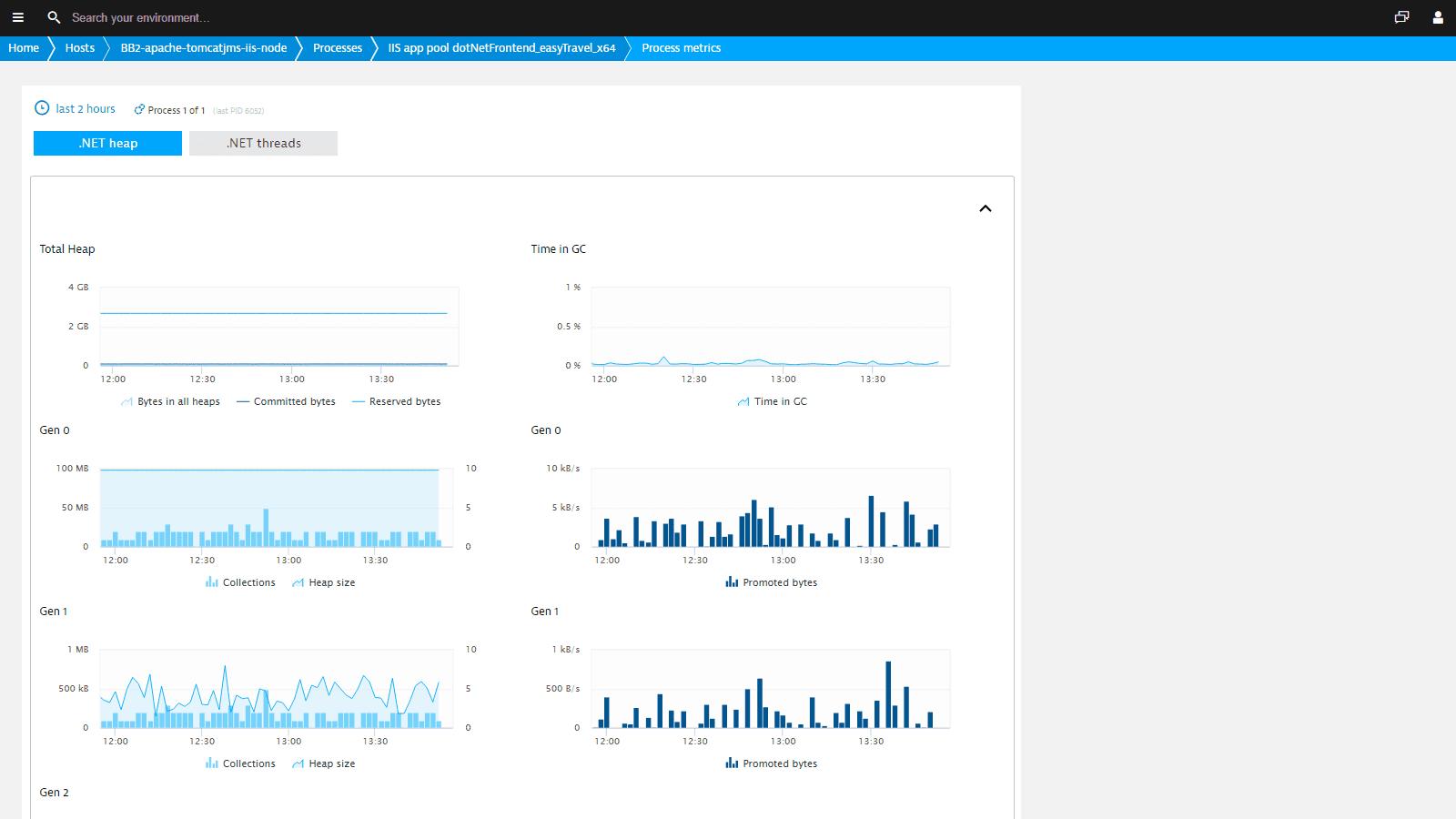 See detailed metrics .NET.