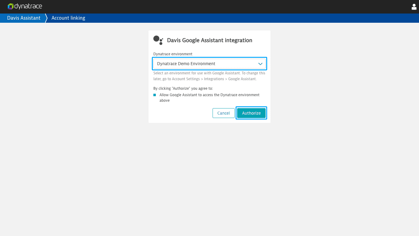 Enable the Davis Assistant Google Assistant action | Dynatrace Help