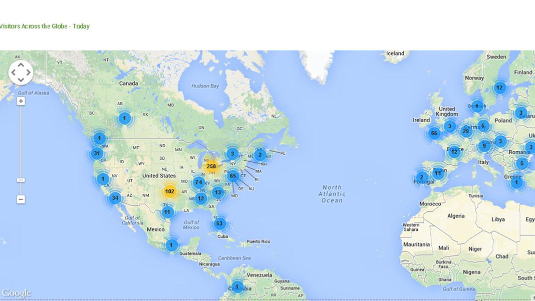 大数据世界地图