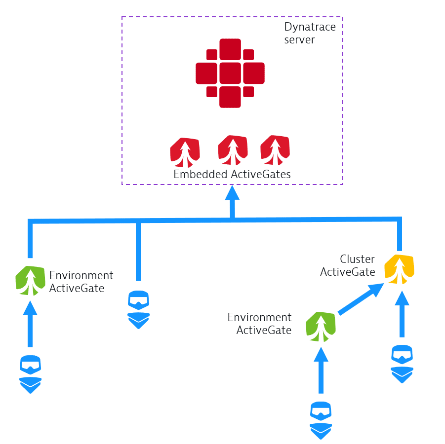 ActiveGate connectivity scheme
