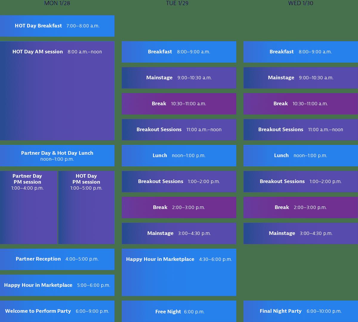 Perform Las Vegas 2019 - agenda