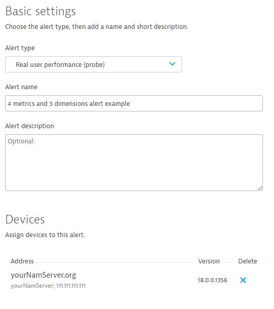 Alerts basic settings