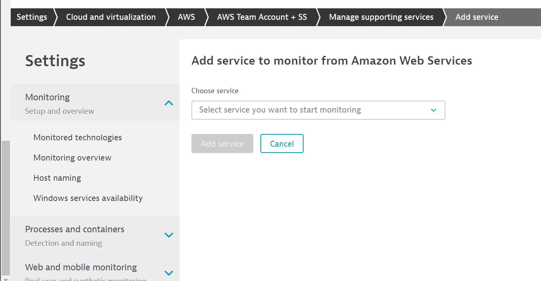 aws add service