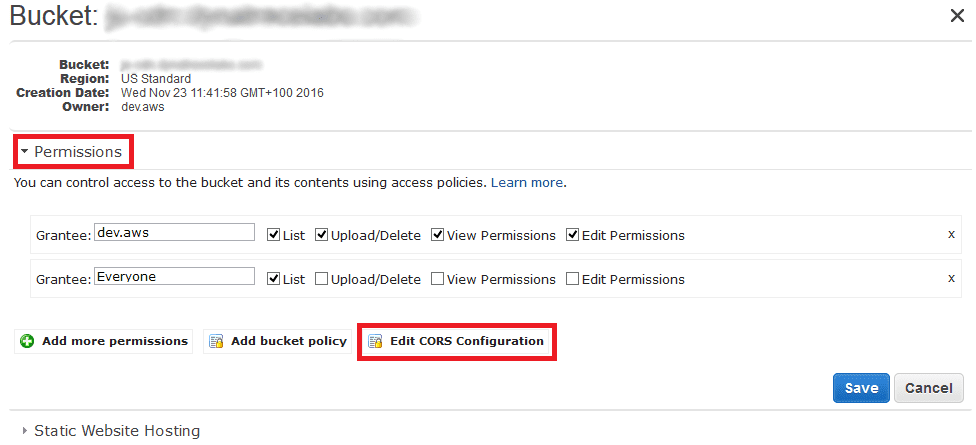 CORS Amazon S3? | Dynatrace Help