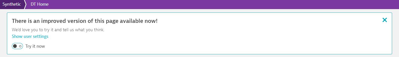 Browser monitors new UI toggle