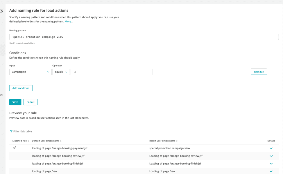 creating custom user actions
