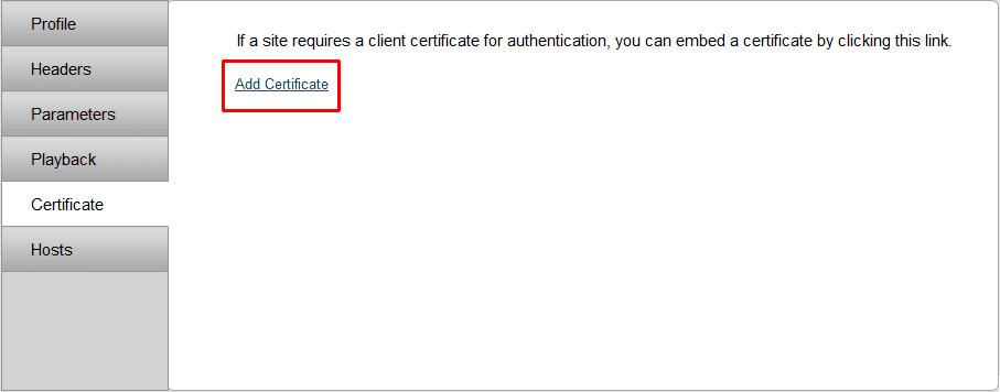 Add a certificate