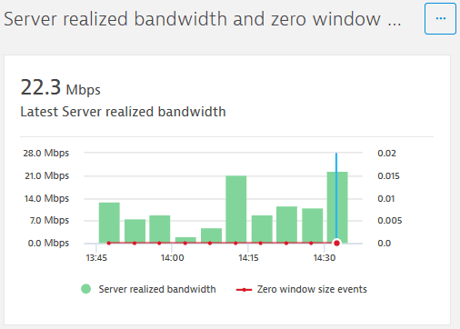 NAM: Citrix explorer: Server realized bandwidth and zero window size events