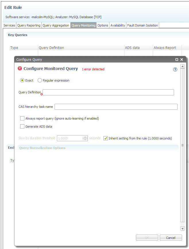Configuring individual query monitoring | Documentation