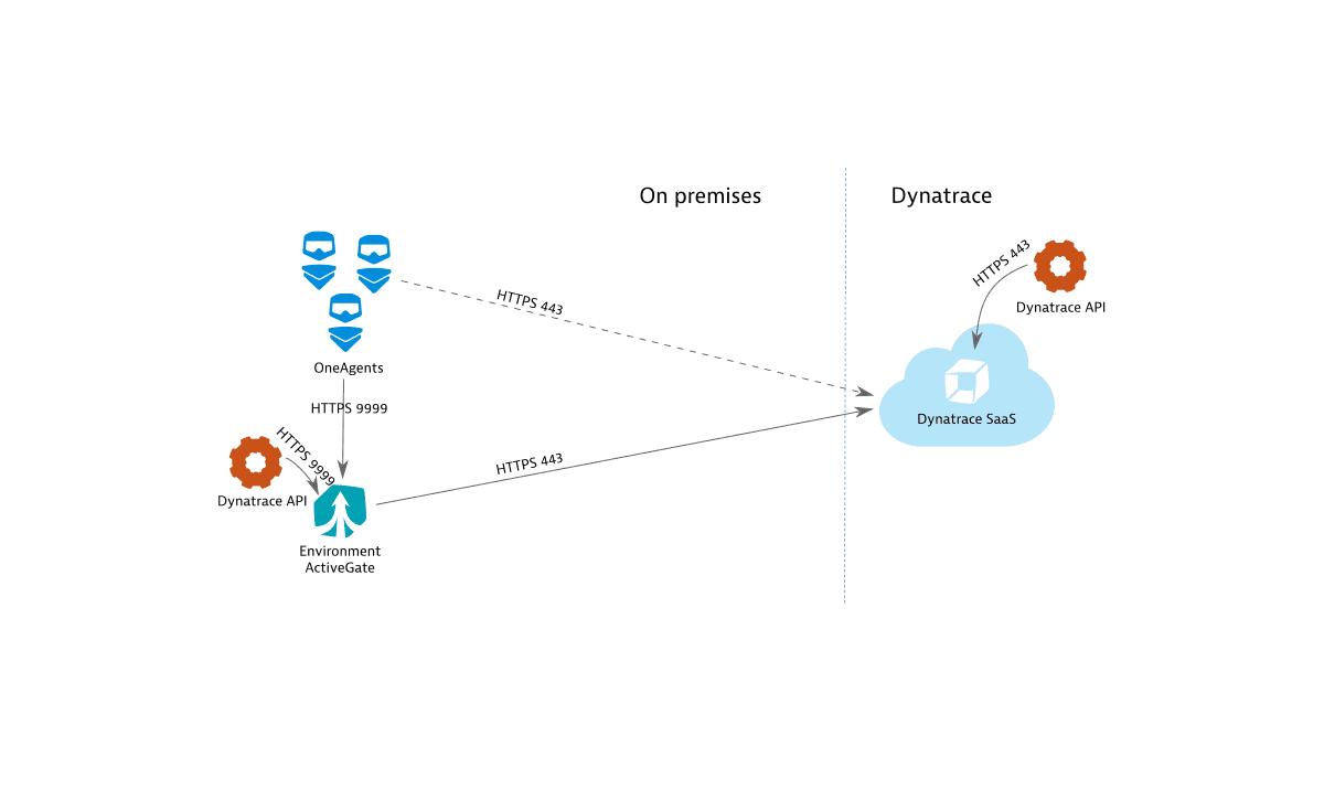 Dynatrace SaaS connectivity scheme