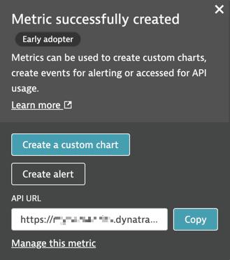 create a custom chart or alert