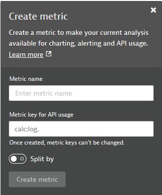 Create metric panel for Log Monitoring