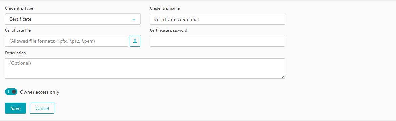 Create a certificate credential