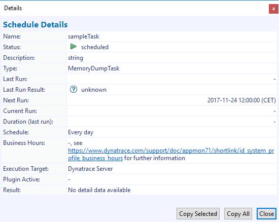 Result task details