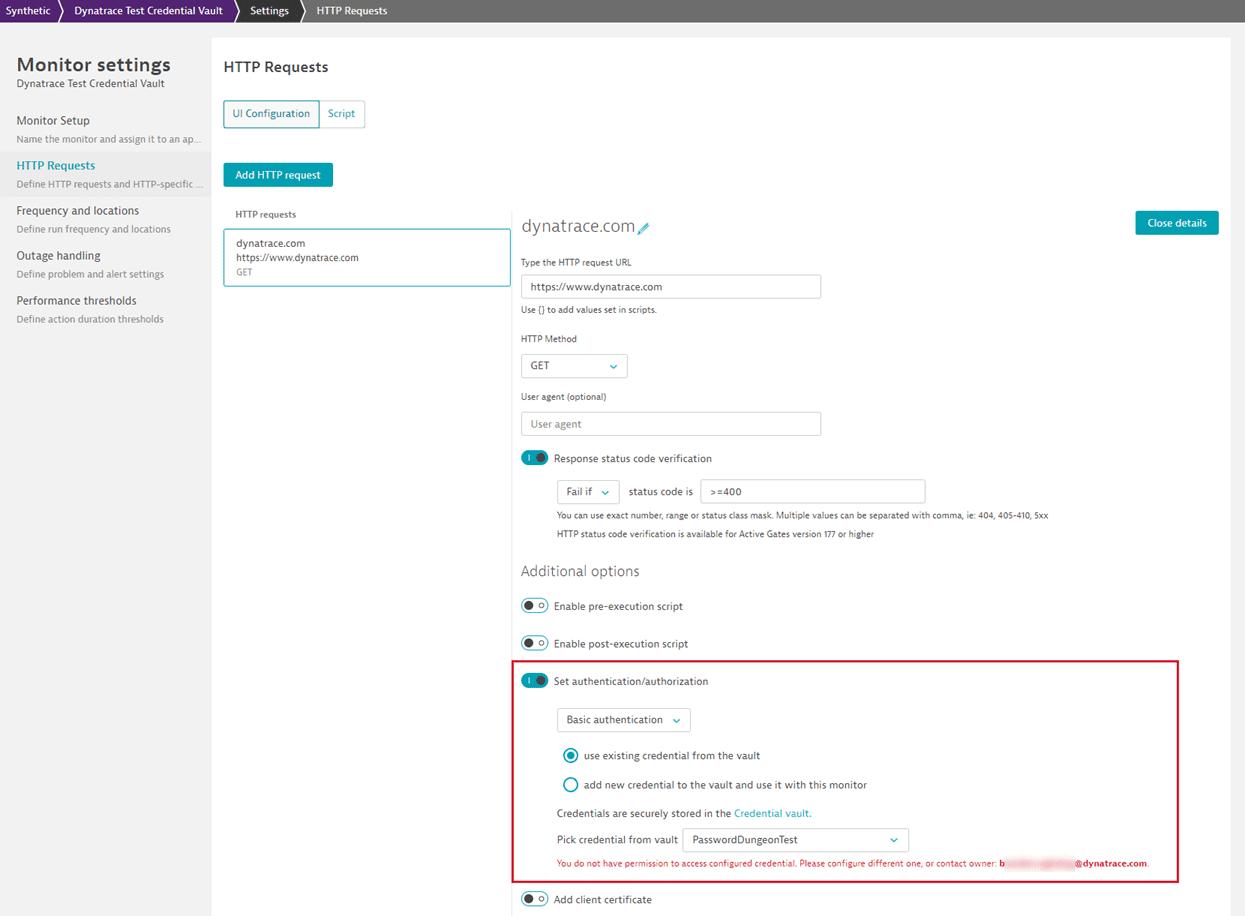 Credential owner name in script