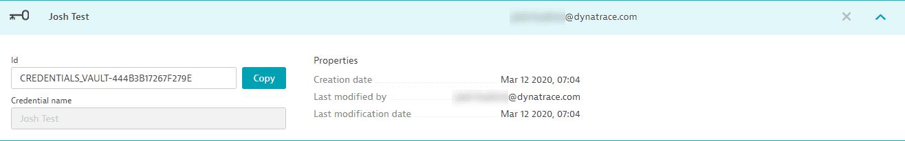 Credential metadata