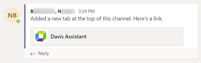 Tab added notification