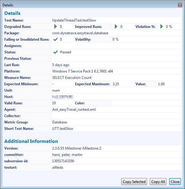 Details dialog box