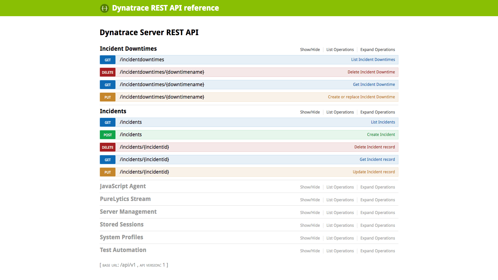 Fully automate Dynatrace via our REST APIs.