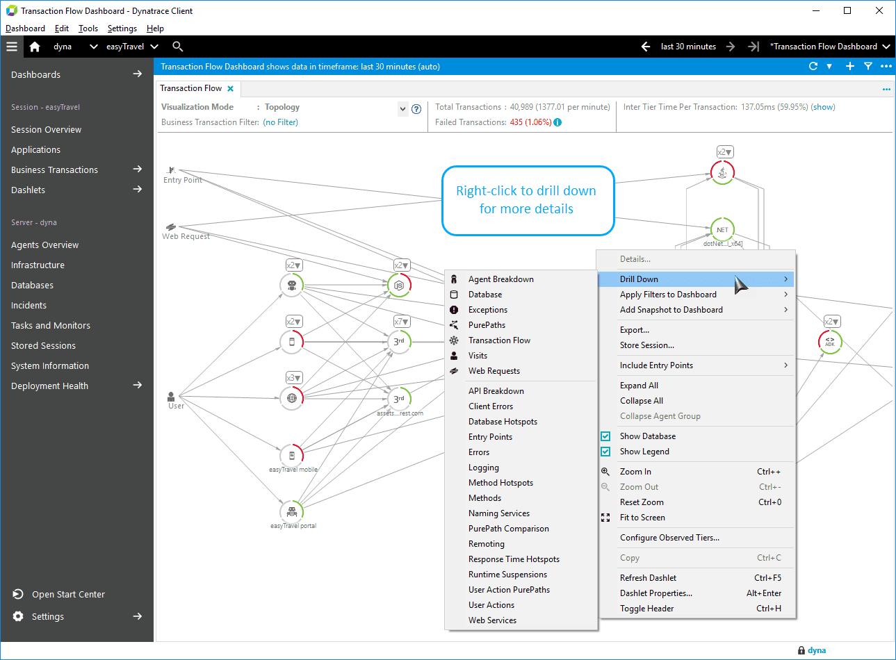 Right-click to open the context menu