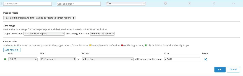 Drilldown filtering