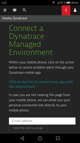 Dynatrace mobile app