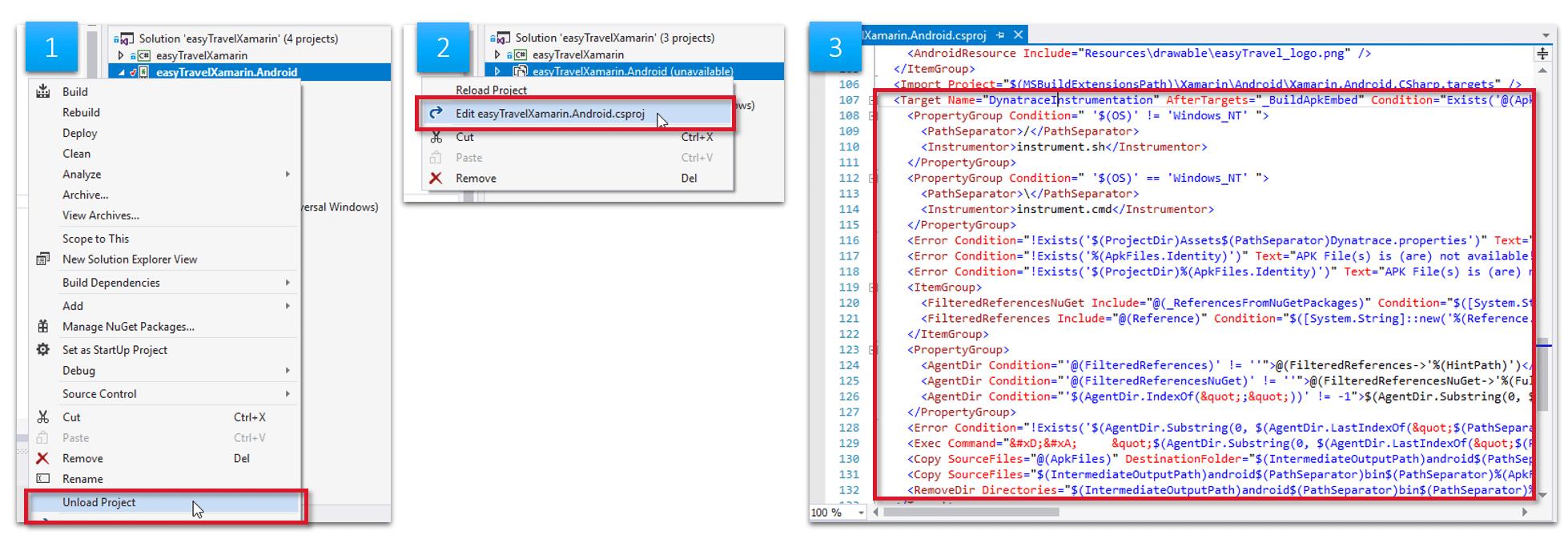 edit the .csproj file