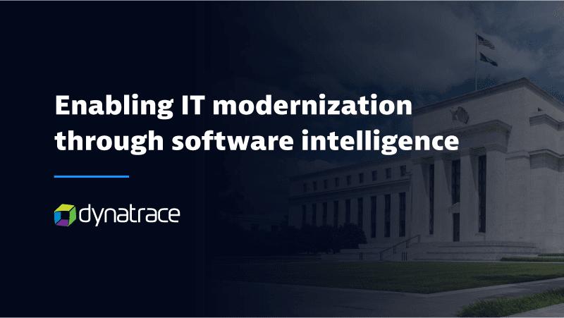 Enabling IT modernization through software intelligence