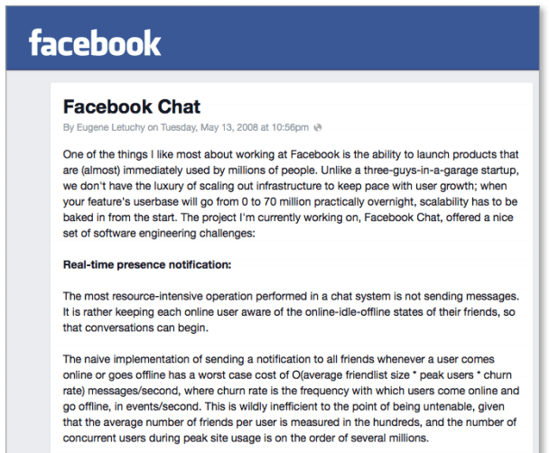 Facebook Chat Service