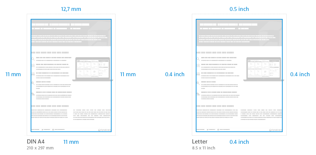 Paper formats and margins