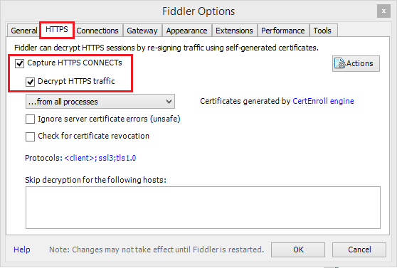 Capture HTTP/HTTPS sessions for debugging using Fiddler | Dynatrace Help