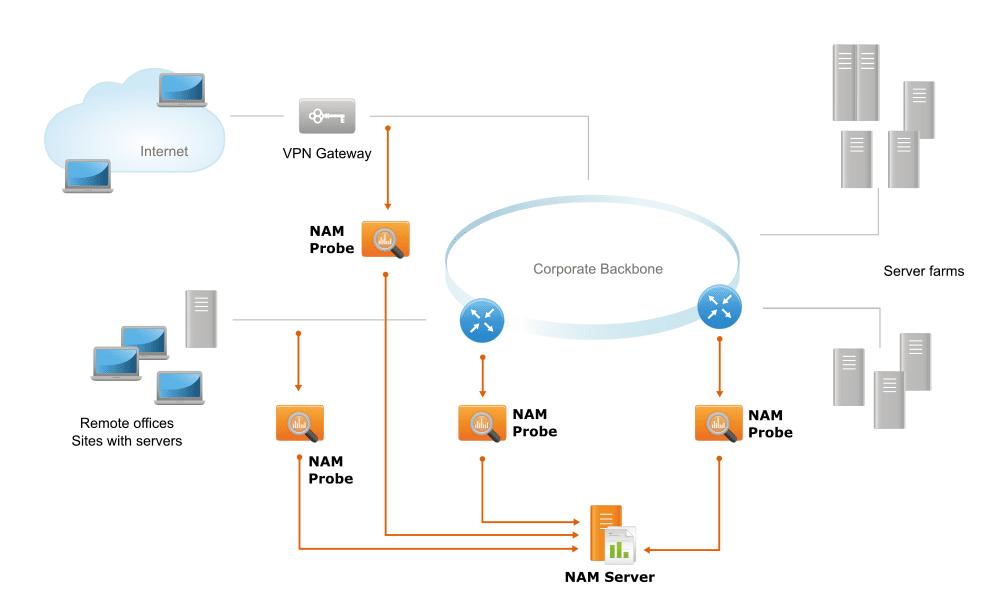 NAM deployment: Large-scale enterprise network