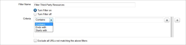 Define filter criterion