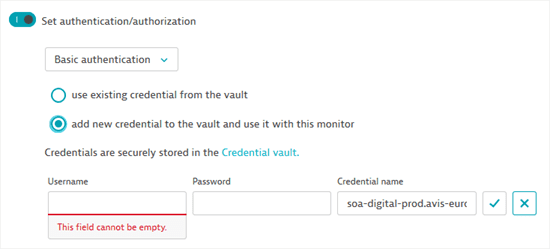 Create credentials