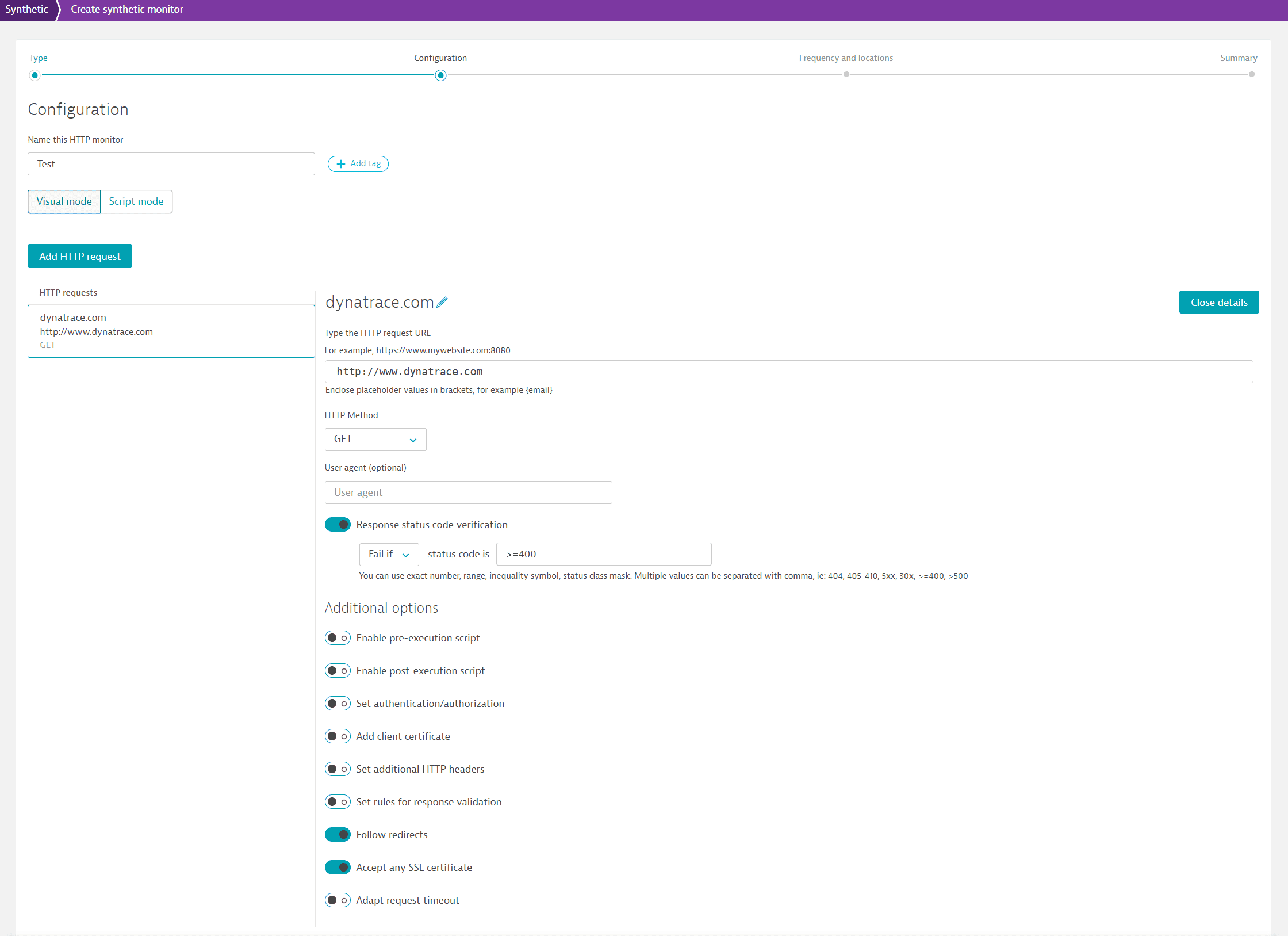 Expanded request details