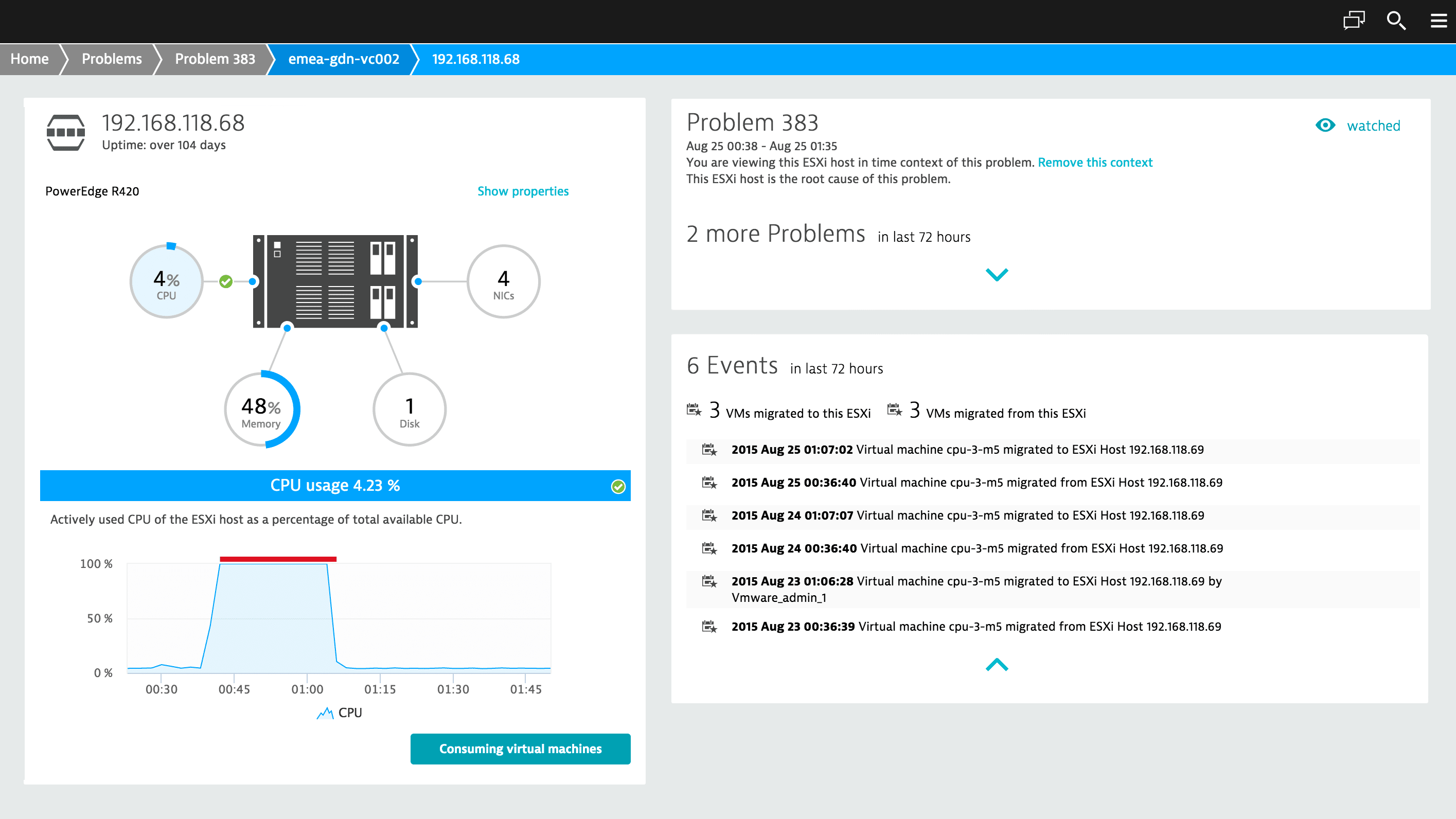 Dynatrace self-learning auto-adapts baselines dynamically as infrastructure changes.