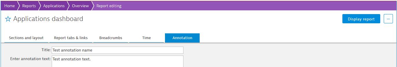 Annotation tab