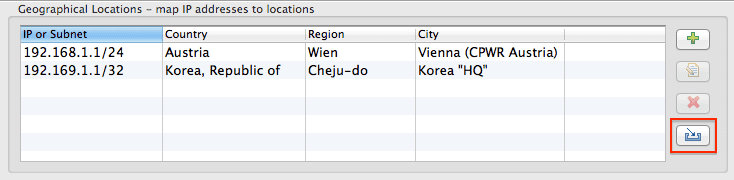 Geographical locations configuration | AppMon documentation