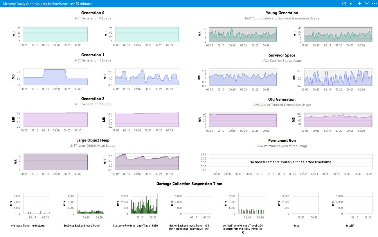 Memory Analysis dashboard