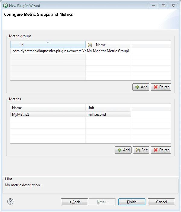 Configure Monitor Metric Groups and Metrics