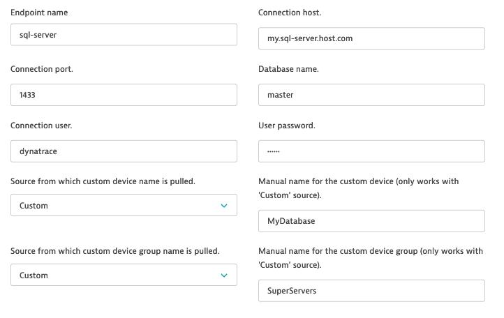 Connection configuration