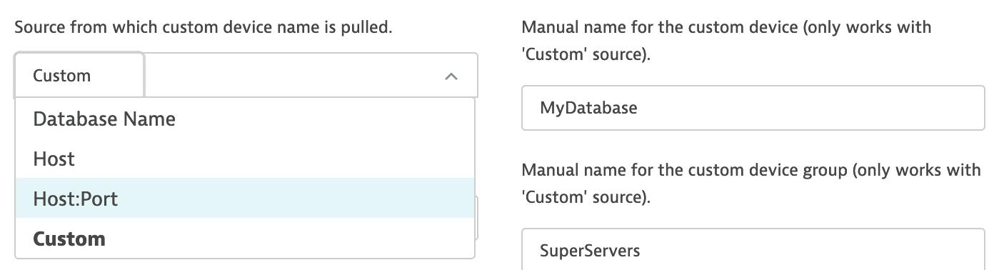 Custom device group name configuration
