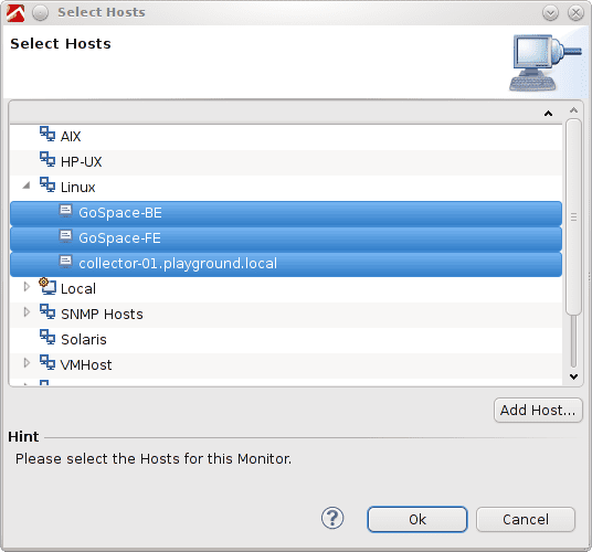 Select the hosts that are your virtual machines.