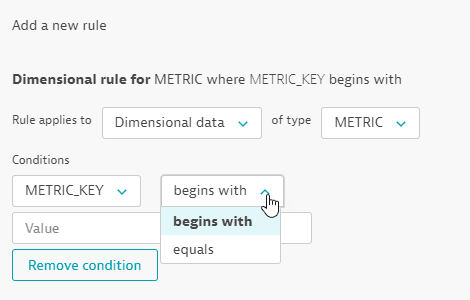 Management zone rule for custom metric name