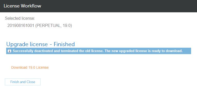 NAM license upgrade in eServices - step 3