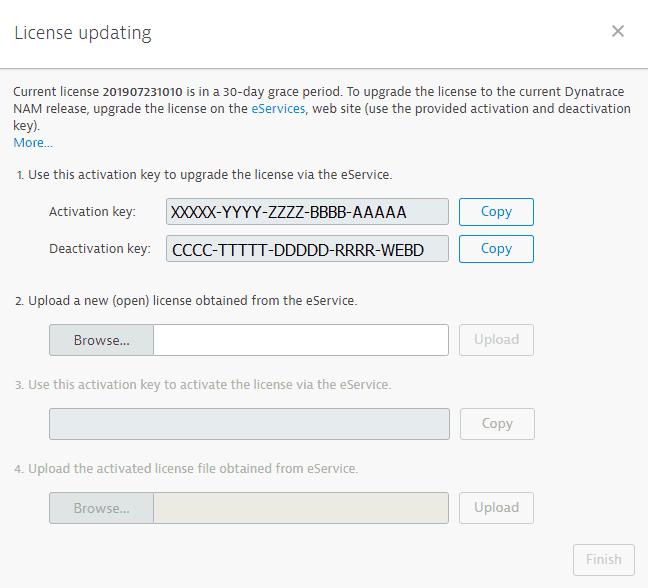 NAM license upgrade in NAM Console