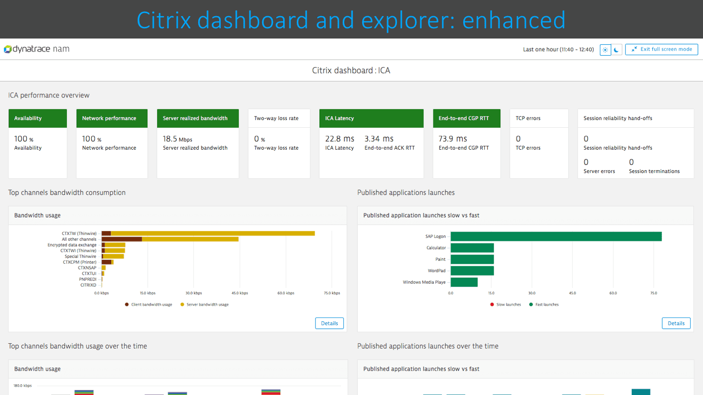 Citrix dashboard
