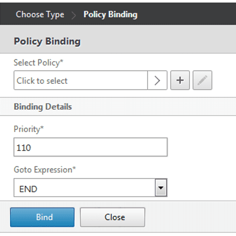 Policy binding