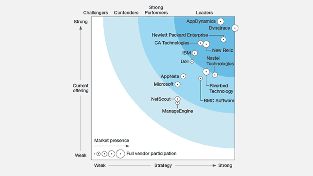Dynatrace is APM leader in The Forrester Wave